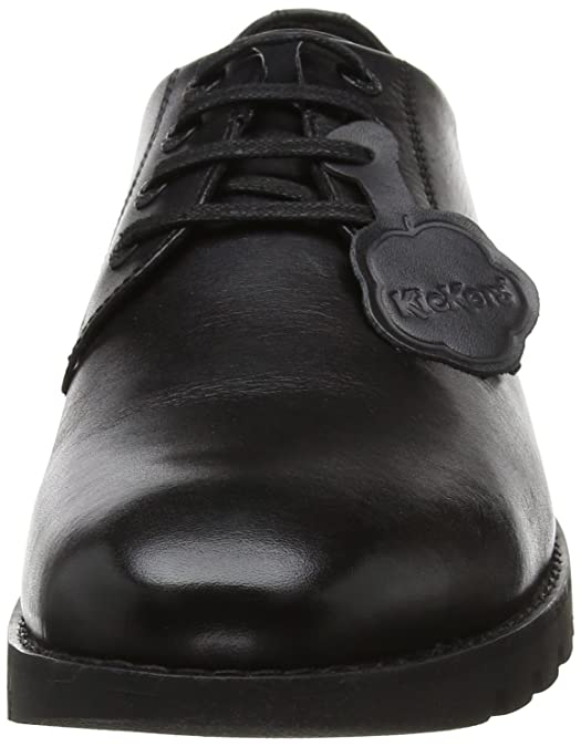 Amazon.com | Kickers Mens Kibson Leather AM Black Comfort School Shoes Size 7 | Shoes