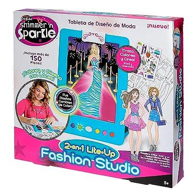 Shimmer & Sparkle Crystal Craze Fashion Lite Studio: Toys & Games