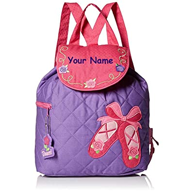 Stephen Joseph Personalized Quilted Ballet Dance Shoes Backpack Book Bag | Kids' Backpacks