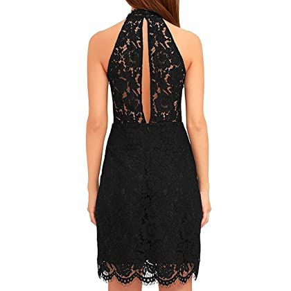 cb3a2f9c8 ... Zalalus Women's Cocktail Dress High Neck Lace Dresses for Special  Occasions ...