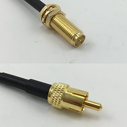 USA-CA RG174 RP-SMA MALE to SMA MALE Coaxial RF Pigtail Cable
