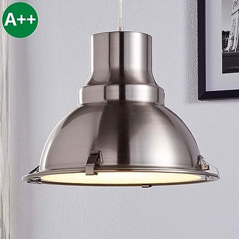 Lámpara colgante Letty (Industrial) en Gris hecho de Metal ...