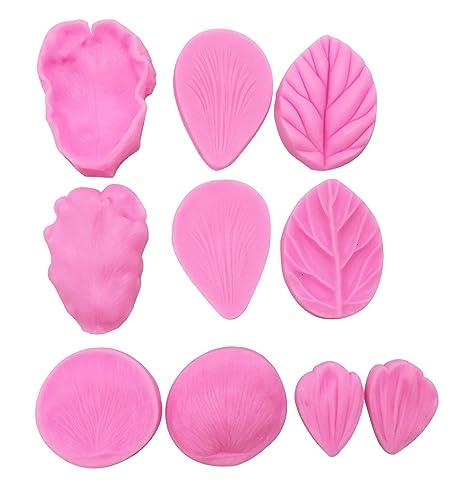 Molde de hojas de flores, 5 piezas, KOOTIPS, silicona, diseño de hojas