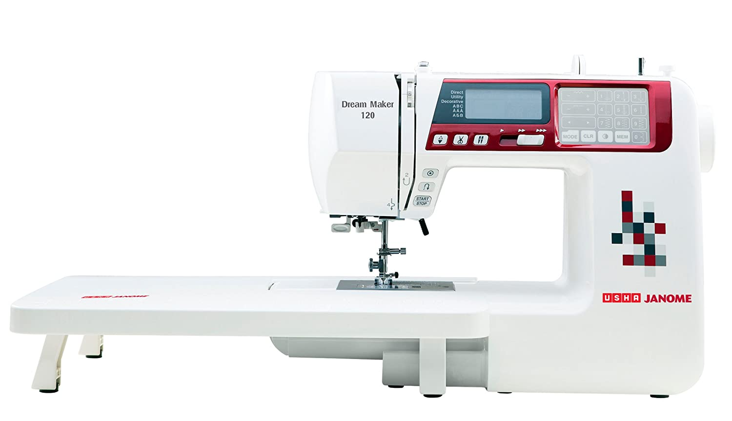 Usha Janome Dream Maker 120 35-Watt Computerized Sewing Machine