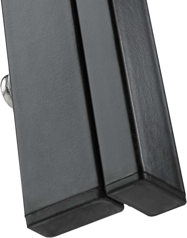 Strapazierf/ähiges Kunstleder Schwarz | Nr. 402837 TecTake Esszimmergruppe mit Esstisch und 4 Essst/ühlen Diverse Farben Robuste Tischplatte aus Sicherheitsglas