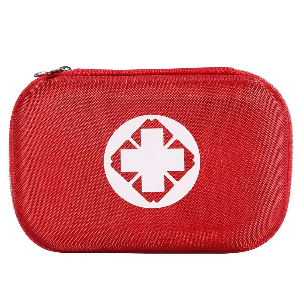 Kit de primeros auxilios viajes botiqu/ín de primeros auxilios Estuche de tratamiento de bolsa de rescate de emergencia con 10 piezas de vendajes adhesivos para el hogar oficina bolsa de emergencia