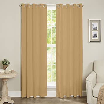 Marias Collection Blackout Curtain Single Panel 52quot X 84quot