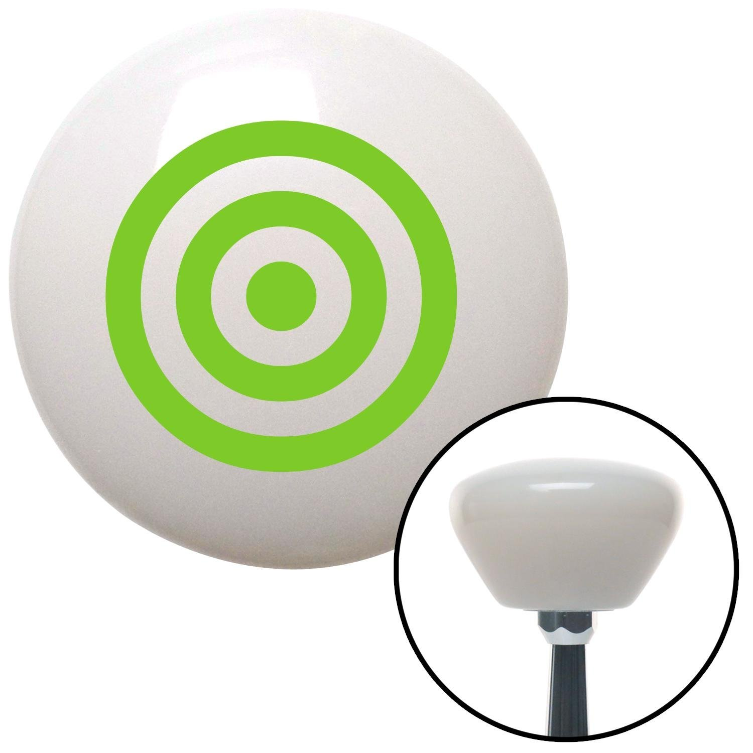 Green Bulls Eye American Shifter 158753 White Retro Shift Knob with M16 x 1.5 Insert