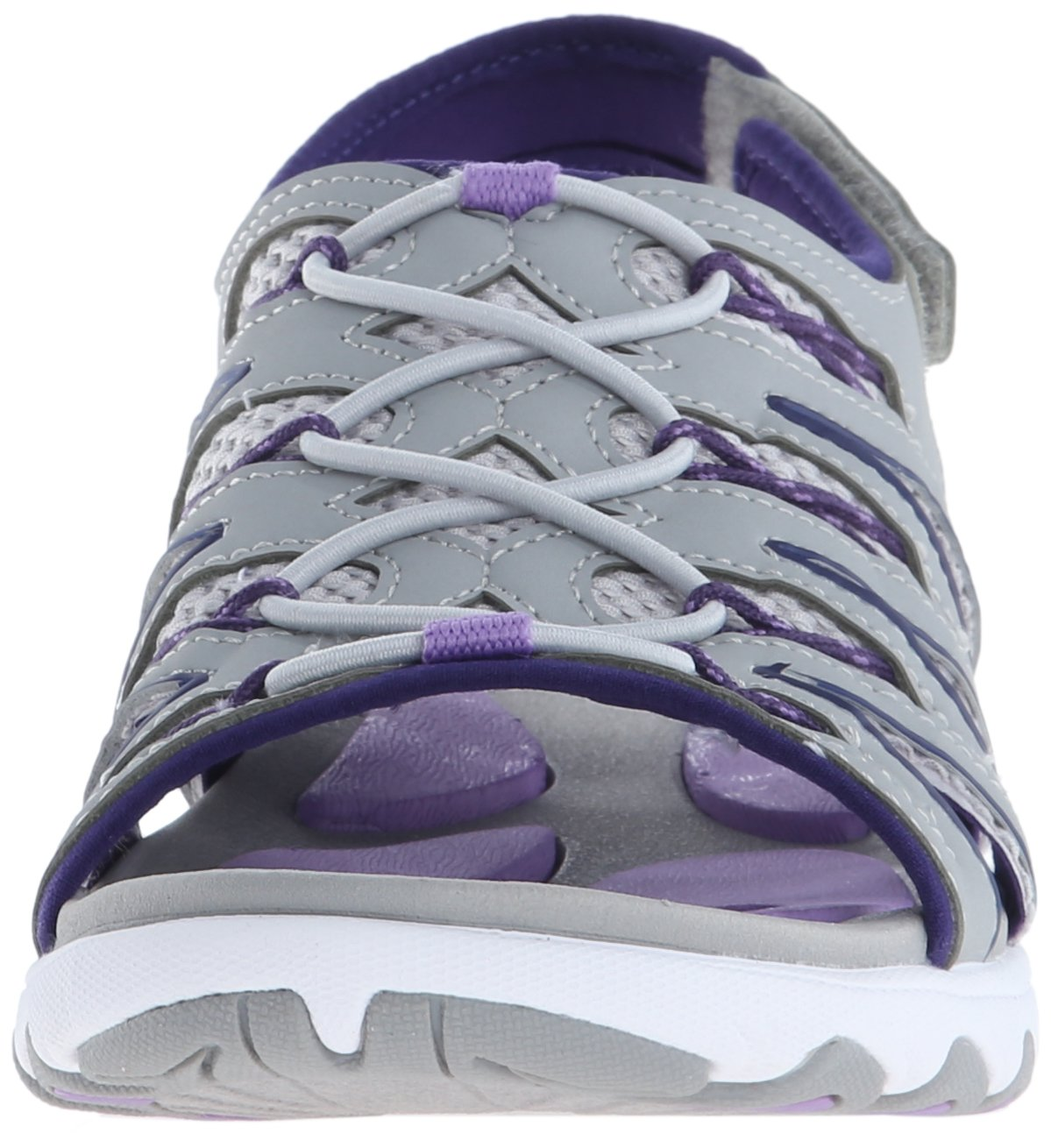 Ryka Women's Glance Athletic Sandal B0128LRKV0 10 B(M) US Grey/Cool Mist Grey/English Lavender