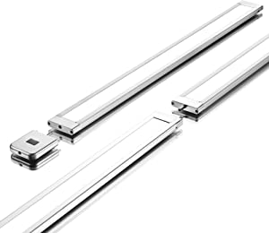 """2 x 24"""" Under Cabinet Lighting w/Hand-Wave Activation / 2 Panels, Super Slim, Light and Bright - 4000K / Under Cabinet LED Lighting by Phonar with 12V Adapter and Hand Wave Sensor"""