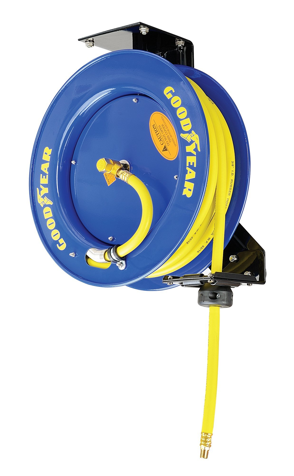Goodyear L815153G Steel Retractable Air Compressor/Water Hose Reel with 3/8 in. x 50 ft. Rubber Hose, Max. 300PSI by Goodyear (Image #9)