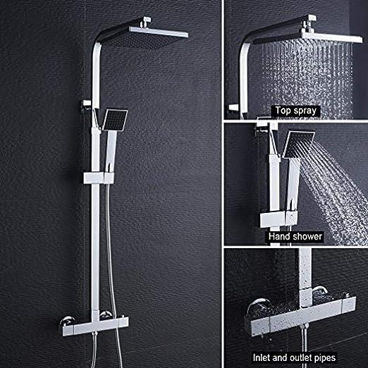 Columna de ducha cuadrada sin sistema de grifo ducha de ducha sin ...