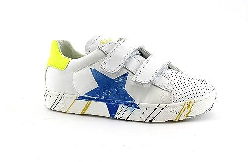 5b395a03b7f6b4 NATURINO ARLON VL 13683 bianco giallo 27/32 scarpe bambino sneakers strappi  pelle 31: Amazon.it: Scarpe e borse