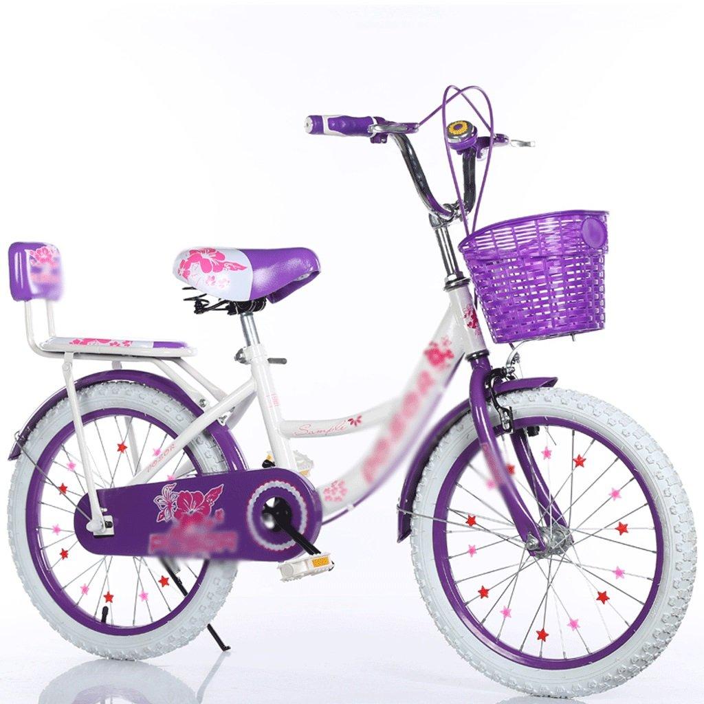 女児学生王女自転車18/20/22インチ6-7-8-9-10-16歳バックパウダー+ホワイトタイヤ   B07R4MN9YN