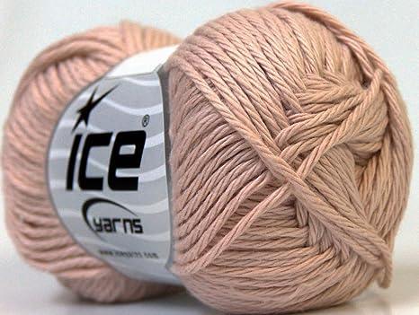 Lote de 8 madejas de hilos de algodón para bebé (100% Giza algodón) hilo rosa marrón: Amazon.es: Juguetes y juegos