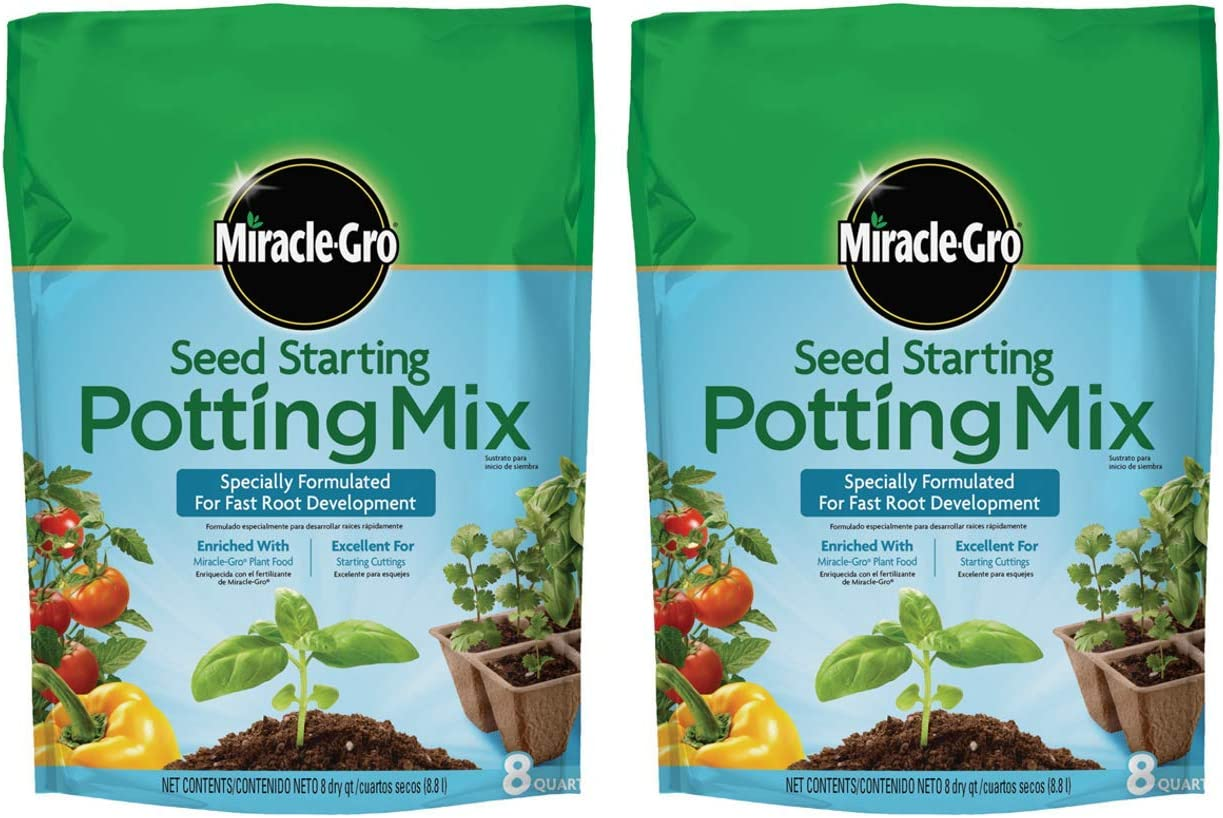 Miracle-Gro Seed Starting Potting Mix, 8-Quart (Currently Ships to Select Northeastern & Midwestern States) (2 Pack)