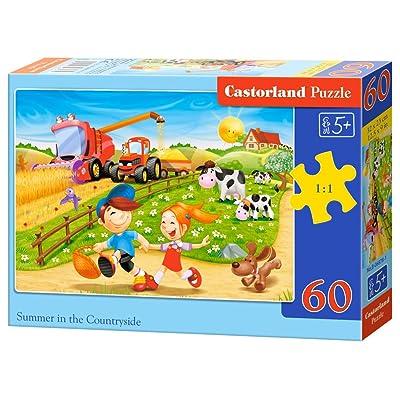 Castorland B-06878-1 - Puzzle - Été à La Ferme - 60 Pièces