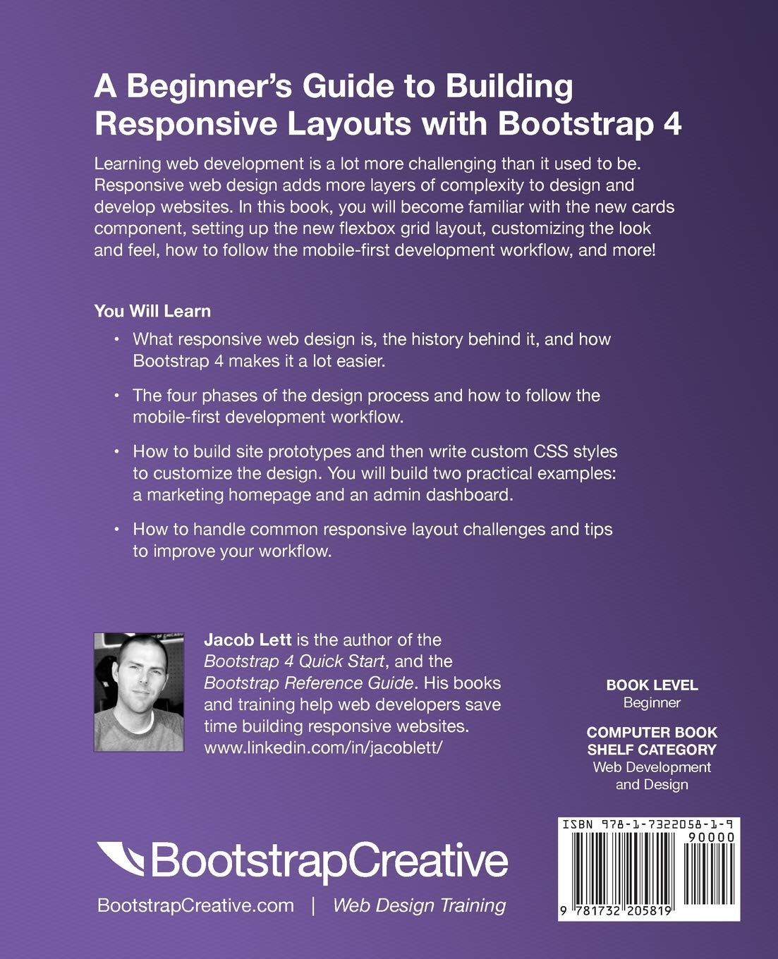 Bootstrap 4 Quick Start: A Beginners Guide to Building Responsive Layouts with Bootstrap 4: Amazon.es: Jacob Lett: Libros en idiomas extranjeros