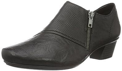 Rieker Women's Heel Zip Leather Shoe (53851 00)