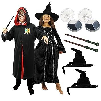 Kinder Hexe Zauberer Kostum Verkleidung Fasching Karneval Halloween