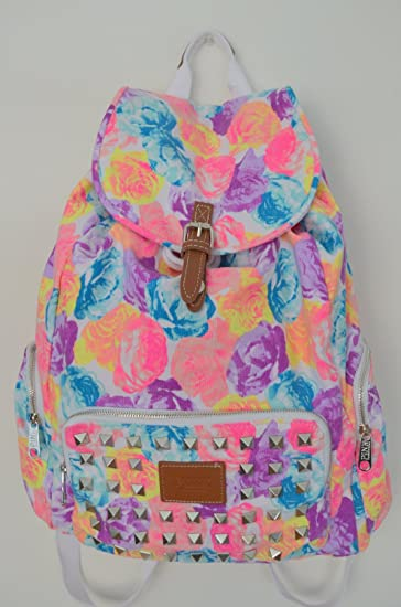 Amazon.com : Victoria's Secret PINK Backpack Bling Studded Floral ...