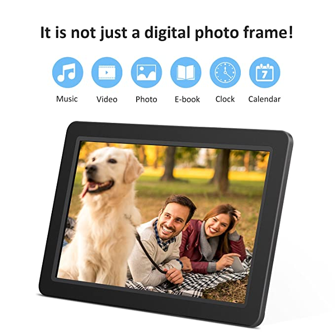 Amazon.com : 12-Inch Digital Photo Frame with High Resolution TFT ...