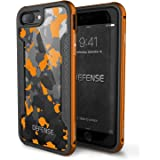 iPhone 7 PLUS Case, X-Doria Defense Shield Series - Military Grade Drop Tested, Anodized Aluminum, TPU, and Polycarbonate Protective Case for Apple iPhone 7 PLUS, [Orange Camo]