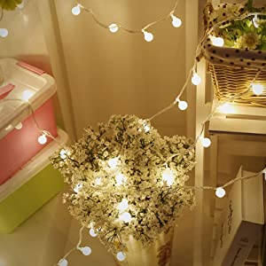 Backdrop String Lights, LED Fairy String Lights Decor Window Curtain Twinkle Fairy Lights USB/Battery Operated for Indoor Outdoor Party Wedding Christmas Tree Garden, Warm White