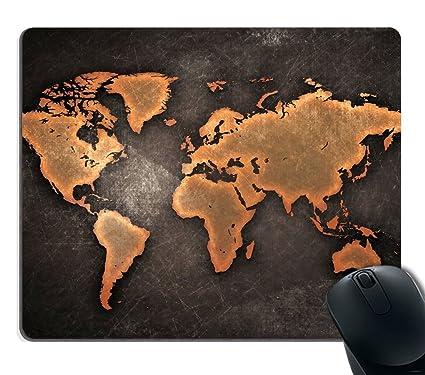 Amazon Com Map Mouse Pad Map Mousepad Mouse Pads World Map