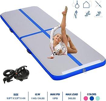 BATURU Inflatable Air Track Gymnastic Airtrack Tumbling Air Mat