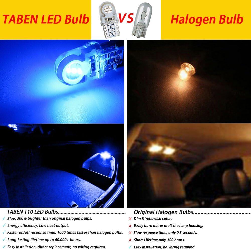 10pcs TABEN 194 T10 LED Bulb Amber W5W 501 2825 194 W5W LED Light Car Interior LED Light Door Courtesy Sidelight Dome Map LED Light Bulbs DC 12V 1W