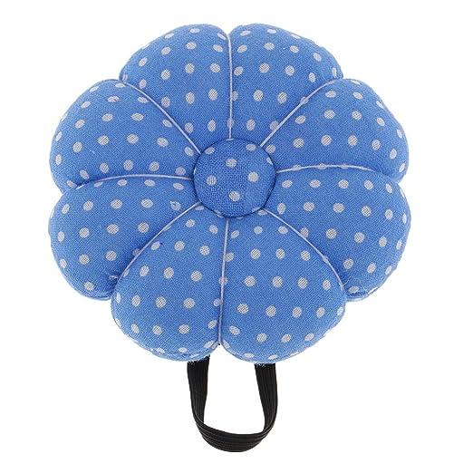 B Baosity Llamativa Almohadilla de Alfiler Cojín de Pin Caja de Costura Almacenaje - Azul