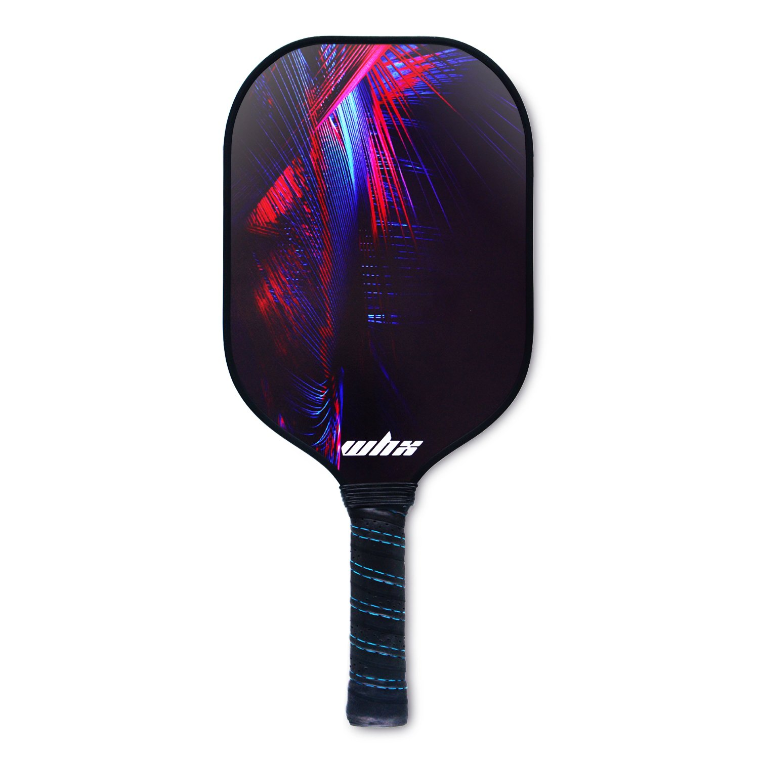 Amazon.com : WHX Pickleball Paddle Graphite Paulownia Wood Composite Core - Comfort Cushion Grips Carbon Fiber Pickleball Racket Cover with Carrying Bag ...