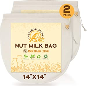 2 Pcs Of Nut Milk Bags For Straining - 14