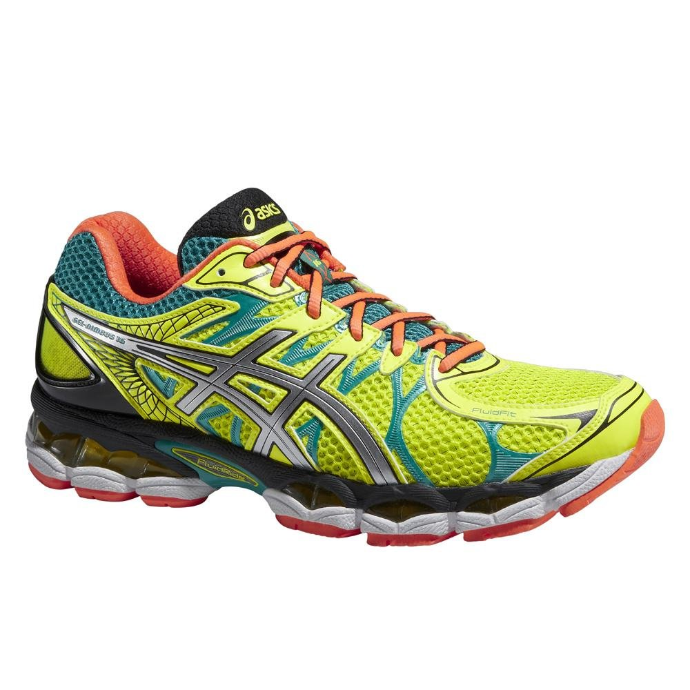 ASICS Shoes Gel Nimbus 16 FLASH YELLOWSILVEREMERALD GREEN