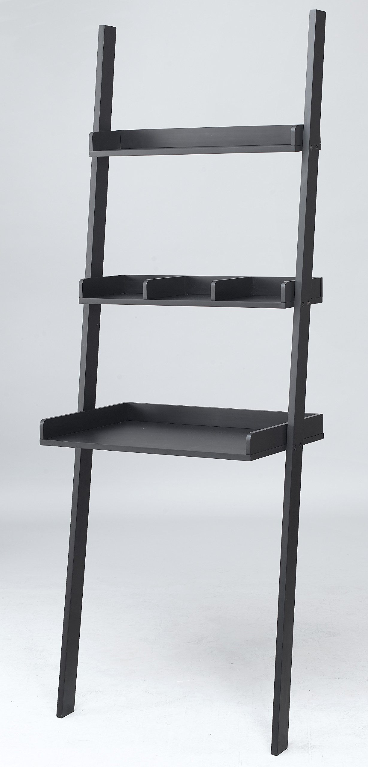 FDW 3 Tiered Ladder Shelving Display Stand, Bookshelf Storage Rack