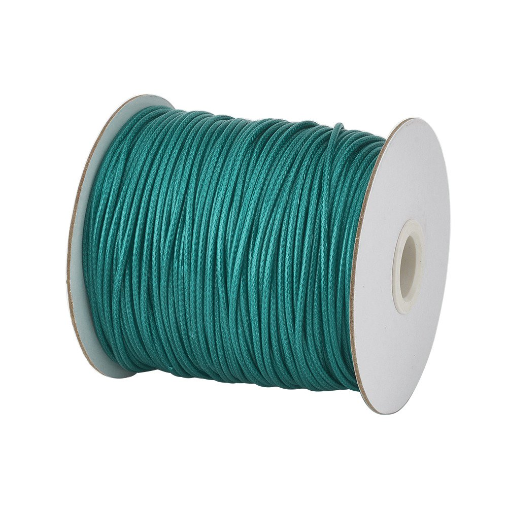 Pandahall 1Roll/100yards 1mm Thick Korean Waxed Cord Polyester Beading Synthetic Fibers Cord Thread for Jewelry Makings Black 4337028255