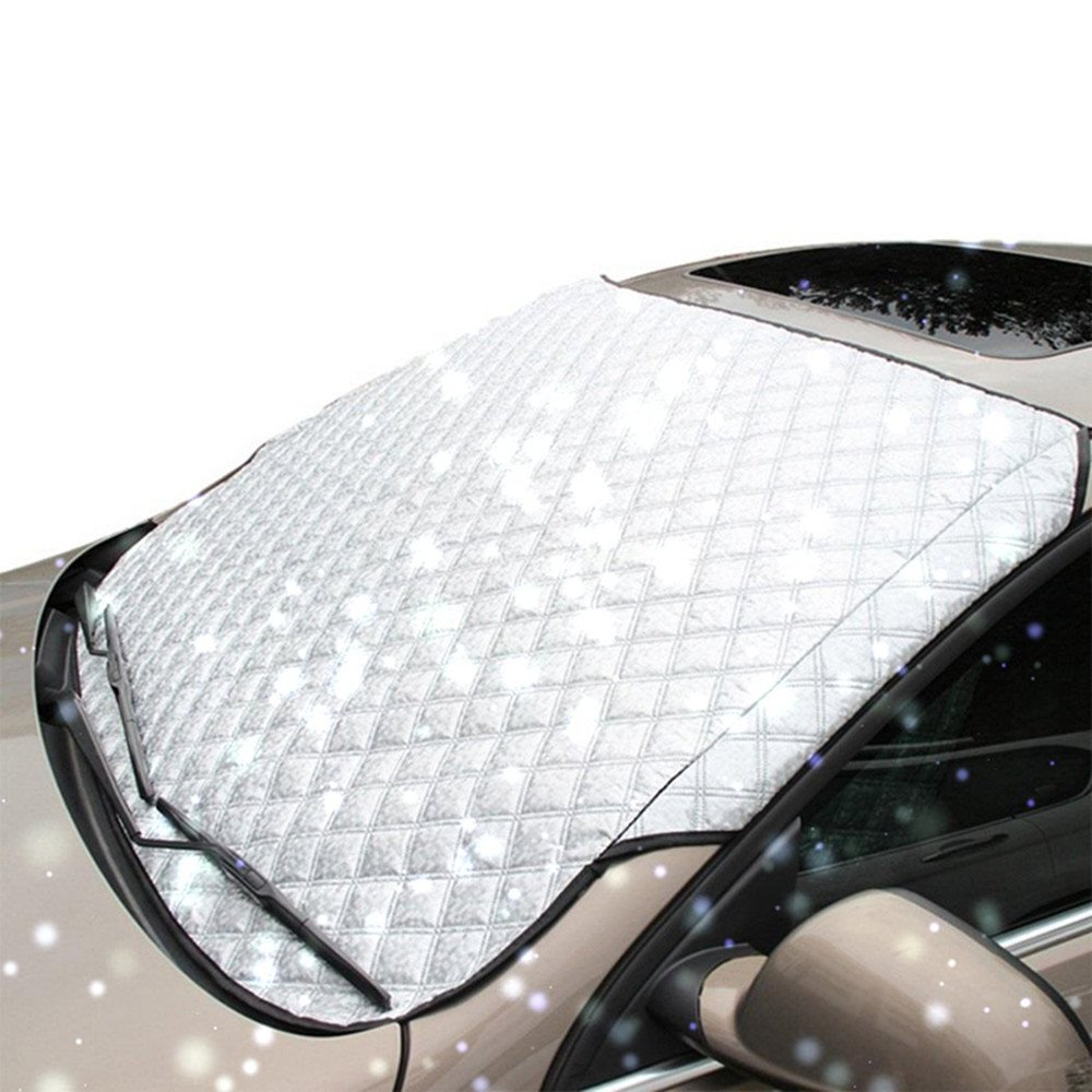 Lemonda Universal Thick Car Windshield Snow Cover Fits SUV, Truck & Car, Ice and Frost Guard, Sun Exposure,Anti-dust Windshields 70' X 37' Anti-dust Windshields 70 X 37