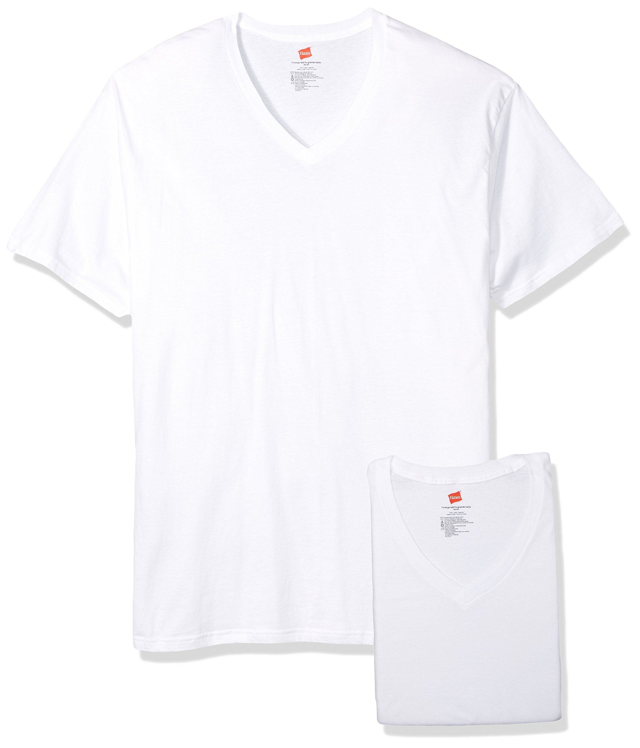 byHanes Hanes Men's Big and Tall V-Neck Undershirt 3-Pack 115hnt (White, Large Tall)