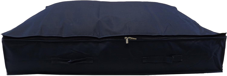 Bleu Neusu Strong XL Sac de Rangement sous Le lit pour Plusieurs couettes 130 Litre x 2 XL 130 litres 96 x 78 x 18 cm