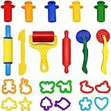 Knetwerkzeug Teig Plastilin Werkzeuge, WonderforU Knete zubehör Ausstechformen Küchenspielzeug, 23 Stück