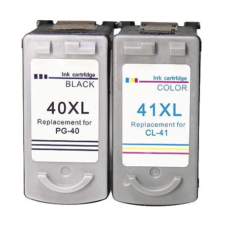 Remanufacturado Canon PG-40 CL-41 40XL 41XL Cartuchos de Tinta ...