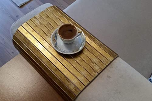 Woodymood Sofa Arm Tray, Sofa Tray Table, Coffee Table, Sofa Table Gold