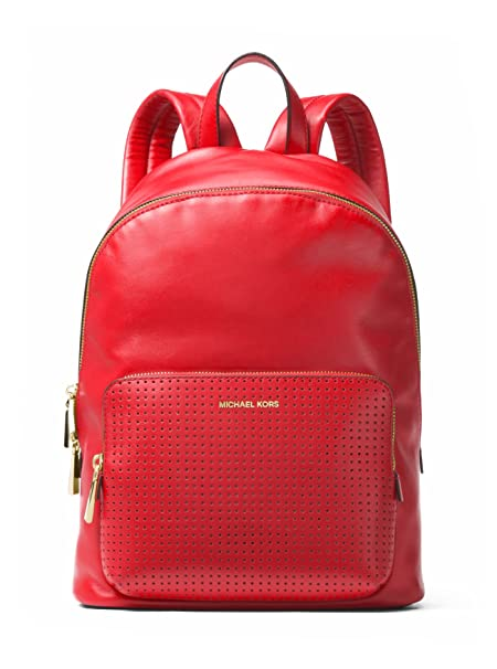 e7ffdc380b086c MICHAEL MICHAEL KORS Wythe Large Perforated Leather Backpack (Bright Red)