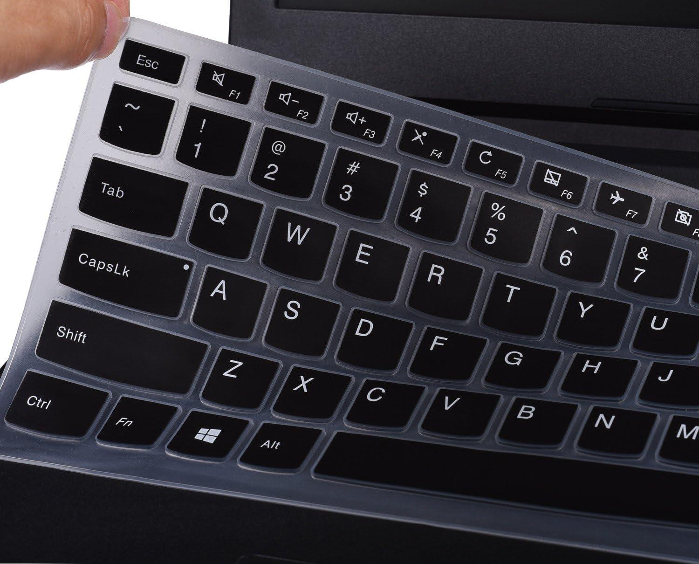 "Keyboard Cover for Lenovo Yoga 710 14 14"", Yoga 710 15 15.6"", Flex 4 14"", ideapad 110 14"", ideapad 310s 14"", ideapad 510s 14"" US Layout (Black)"