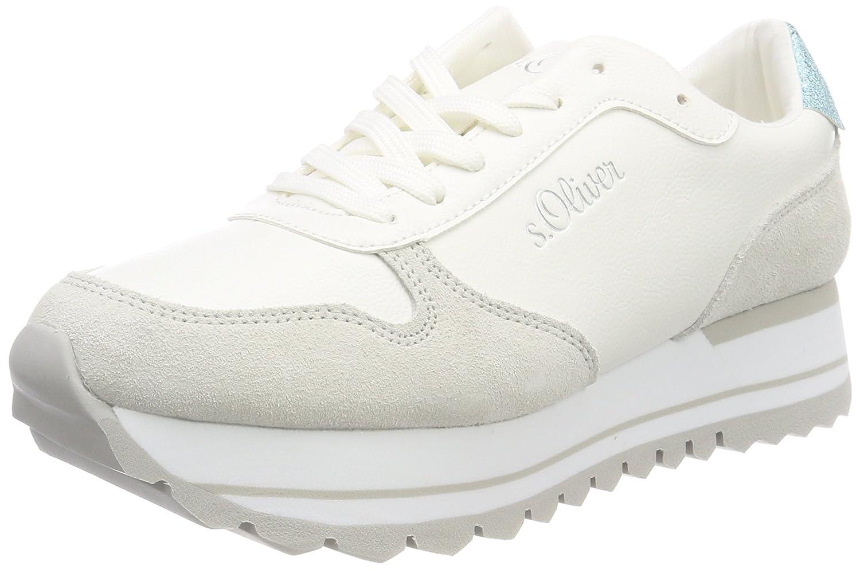 s.Oliver 23658, Zapatillas para Mujer 41 EU|Blanco (White)