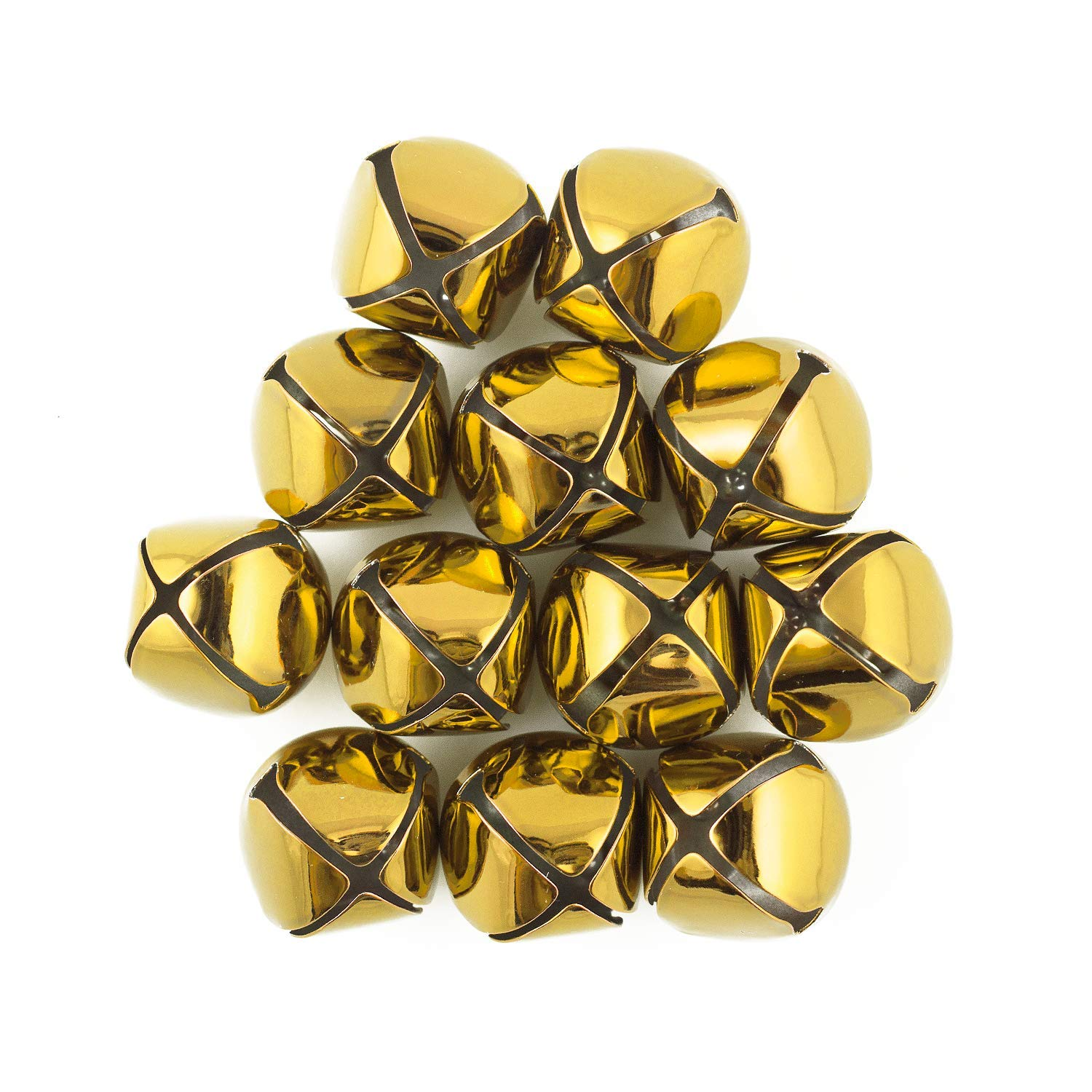 1.25 inch 30mm Large Gold Jingle Bells Bulk 100 Pieces by Art Cove (Image #1)