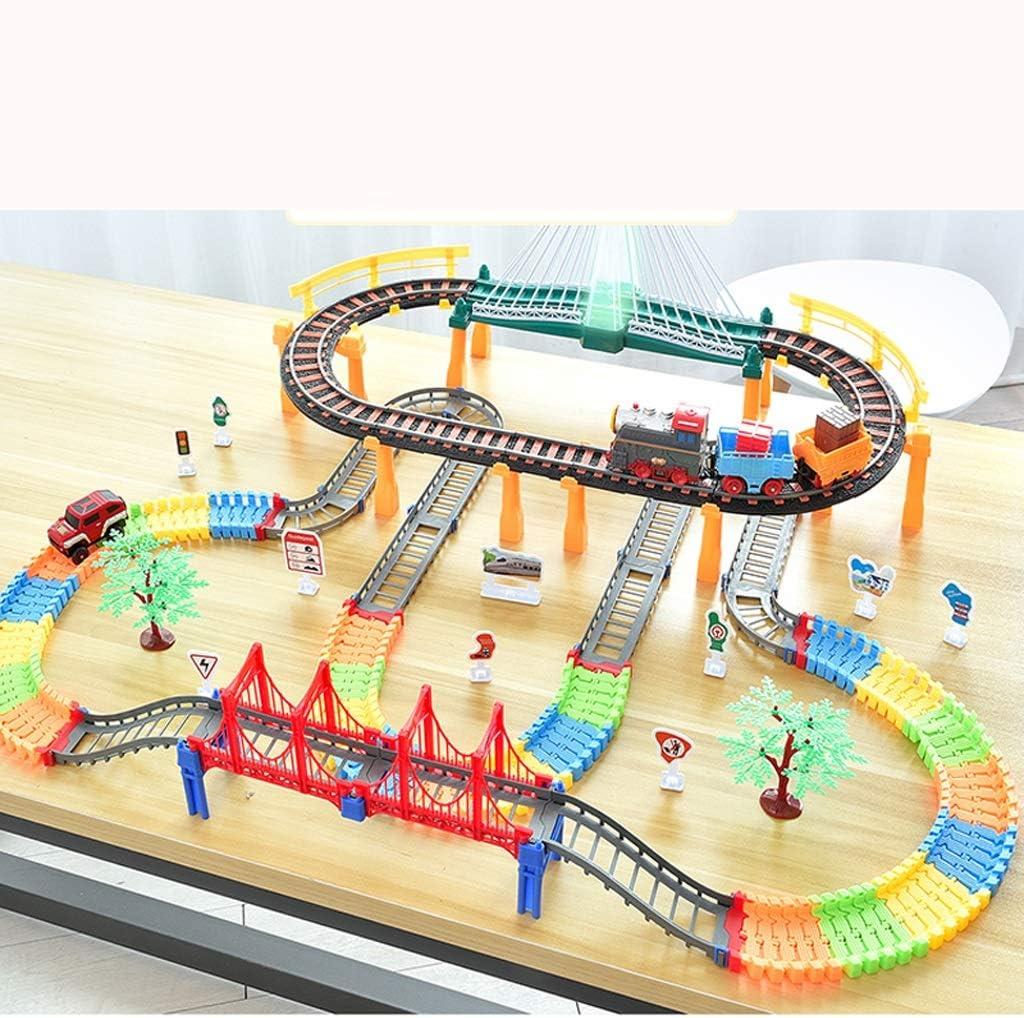 CZLSD Arrastre un Motor pequeño Juego de Tren Motor de Juguete, Tren de Juguete, Juego eléctrico de rieles, 3-12 años de Edad, niños, niña y niño: Amazon.es: Hogar