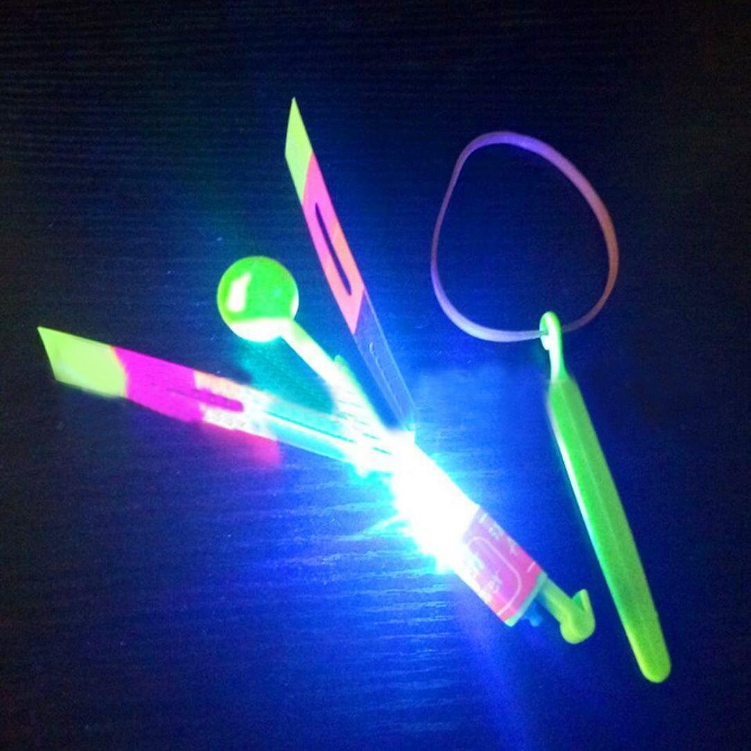 LED Light Bamboo Dragonfly Toy,Mamum LED Light Up Flashing Dragonfly Glow For Party Toys