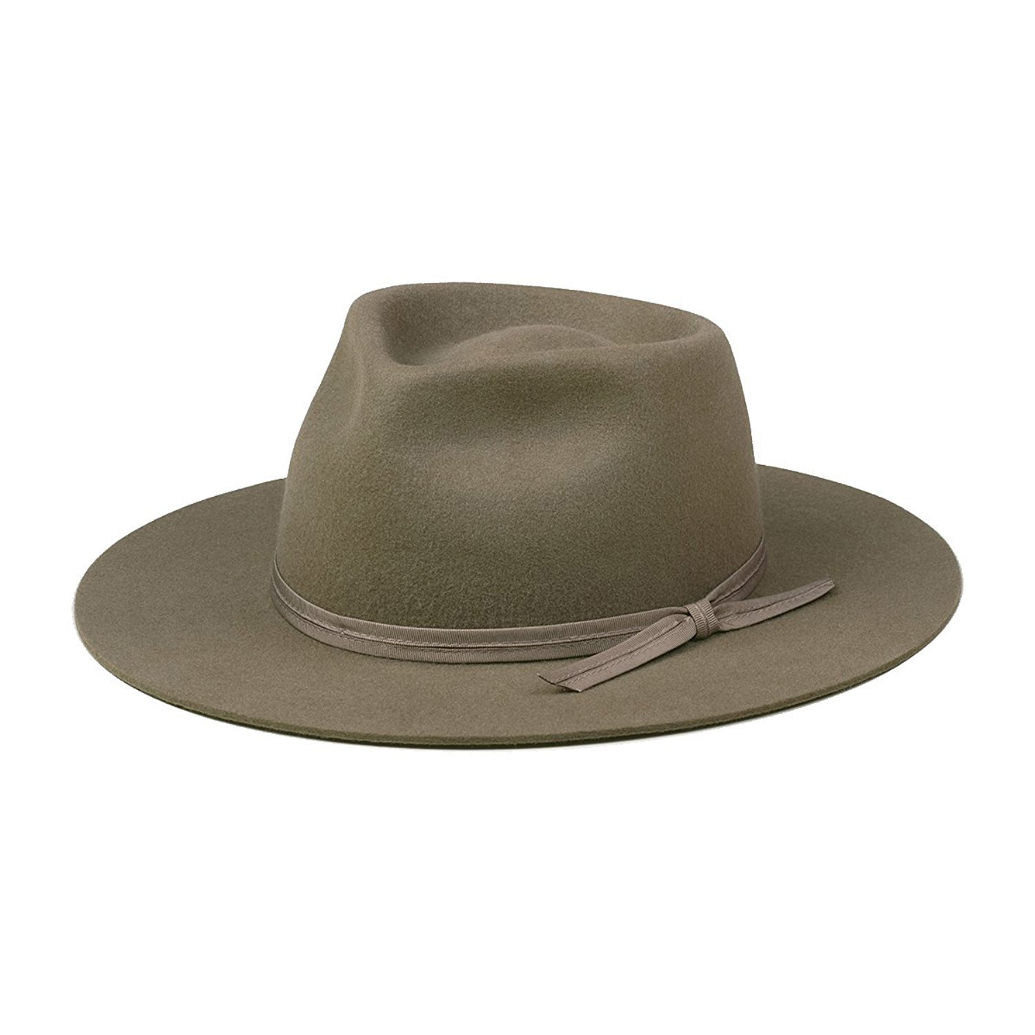 Lack of Color Women's Olive Zulu Classic Wool Fedora (Moss Green, Small (55cm))
